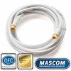 7676-030W Koaxiální satelitní kabel, F-F konektor, 3m, bílý