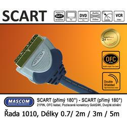 Scart 180°  - Scart 180° (přímý) 3m  - 1