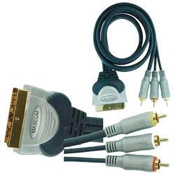 1022-030  3xCINCH A/V do SCART 180  3m