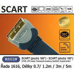Scart Plochý 180°  - Scart Plochý 180° (přímý) 3m  - 1