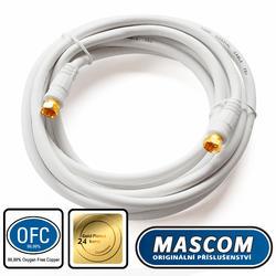 7676-030W Koaxiální satelitní kabel, F-F konektor, 3m, bílý  - 1
