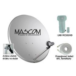Venkovní jednotka pro sat. příjem OP60, MCS02HD, koax. kabel  - 1