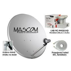 Venkovní jednotka pro sat. příjem OP80, MCM4S01HD, koax. kabel.  - 1