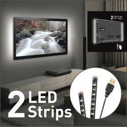 USB LED osvětlení pro televizory, bílé  - 1