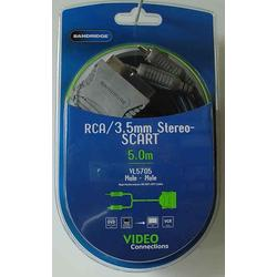RCA/3,5mm Stereo - Scart (Male - Male)  5,0m  High Performance 99,96% OFC Cable