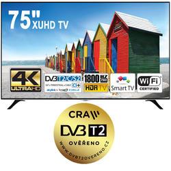 Finlux TV75FUC8560 - XUHD, HDR, T2, SAT, WIFI-
