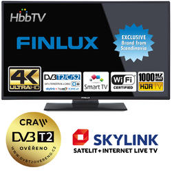 Finlux TV49FUD7060 - UHD SAT/T2 SMART WIFI SKYLINK LIVE-