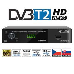 MC720T2 HD Přijímač DVB-T2 HEVC,ovladač TV CONTROL  - 1