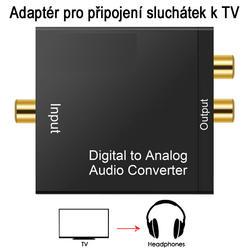 DAC 01-LT, Adaptér dig.audio na analog. sluchátka  - 1