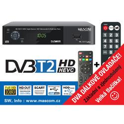 MC721T2PLUS, přijímač DVB-T2 HEVC se dvěma ovladači.  - 1