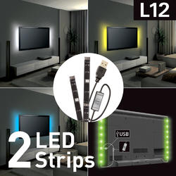USB LED osvětlení pro televizory, barevné  - 1