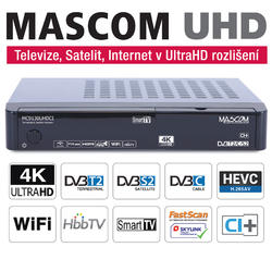 MC9130, DVB S2+T2+C, HBB TV, IPTV, WIFI, 4K UHD