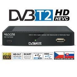 MC710T2HD Přijímač DVB-T2 HEVC, USB  - 1
