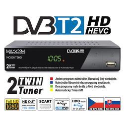 MC820T2HD TwinTuner přijímač DVB-T2 HEVC, ovladač TV CONTROL  - 1