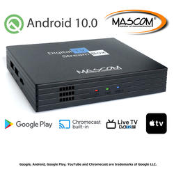 MC A101T/C,Android TV 10.0,DVB-T2, 4K HDR, Ovladač s TV Control