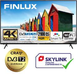 Finlux TVF65FUF7161 - HDR,UHD, T2 SAT,  HBB TV, WIFI, SKYLINK LIVE  - 1