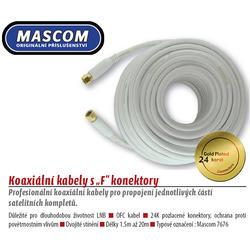 7676-015W Koaxiální satelitní kabel, F-F konektor, 1,5m, bílý  - 2