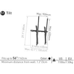"""Barkan 51 - naklápěcí - SLIM LCD do 80""""  - 2"""