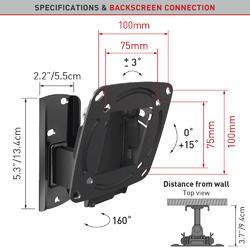 "Barkan E120.B - 2 pohybový do 100x100mm, pro TV 13""-29"" (33-74cm), do 15kg  - 2"