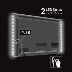 USB LED osvětlení pro televizory, bílé  - 2