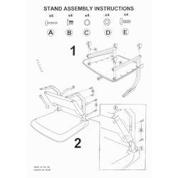 Stand S 522 - stolek s pojezdem  - 2