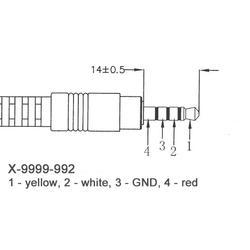 9999-992 JACK - 3AV CINCH kabel  pro MC9130UHDCI  - 2