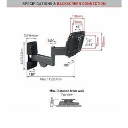"Barkan E140.B - 4 pohybový do x100100mm, pro TV 13""-29"" (33-74cm), do 15kg  - 2"