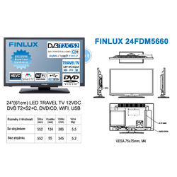 Finlux TV24FDM5660-T2 SAT DVD SMART WIFI 12V-  - 2