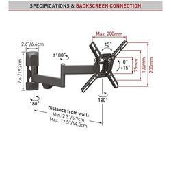 "Barkan 2400.B - 4 pohybový do 200x200mm, pro TV 13""-39"" (33-99cm), do 25kg  - 2"