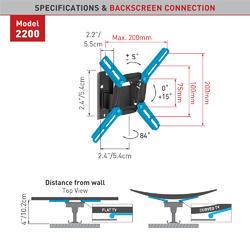 "Barkan 2200.B - 2 pohybový, do 200x200mm, 30kg, do 40""  - 2"