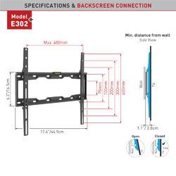 """Barkan E302+.B- Fixní do 400x400mm, 50kg, TV do 56""""(142cm)  - 2"""