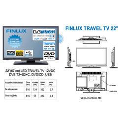 Finlux TV22FDMC4760 -T2 SAT DVD 12V-  - 2