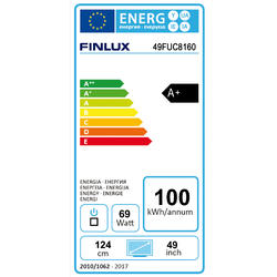 Finlux TV49FUC8160 -  HDR UHD T2 SAT WIFI SKYLINK LIVE  - 2
