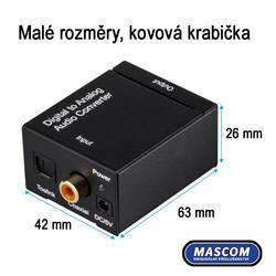 DAC 01-LT, Adaptér dig.audio na analog. sluchátka  - 2