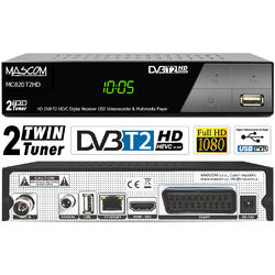 MC820T2HD TwinTuner přijímač DVB-T2 HEVC, ovladač TV CONTROL  - 2