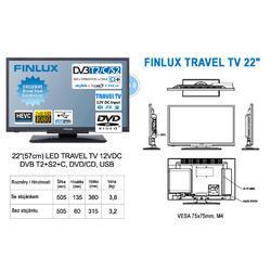 Finlux TV22FDMF4760 -T2 SAT DVD 12V-  - 2