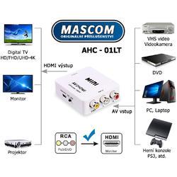 AHC 01-LT, konvertor 3AV na HDMI  - 2