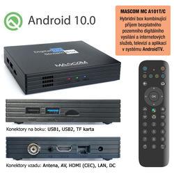 MC A101T/C,Android TV 10.0,DVB-T2, 4K HDR, Ovladač s TV Control  - 2
