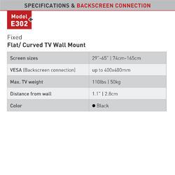 """Barkan E302+.B- Fixní do 400x400mm, 50kg, TV do 56""""(142cm)  - 3"""