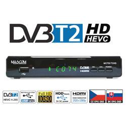 MC750T2 HD Přijímač DVB-T2 HEVC, USB PVR a MediaPlayer  - 3