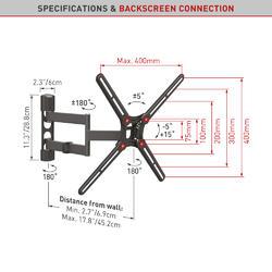 """Barkan BM343 -  4 pohybový 75x75 až 400x400mm, pro TV 29""""-65"""" (74-165cm), do 40kg  - 3"""