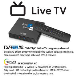MC A101T/C,Android TV 10.0,DVB-T2, 4K HDR, Ovladač s TV Control  - 3