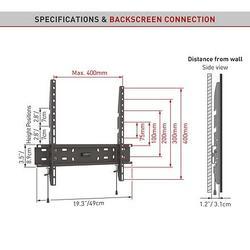 "Barkan 30 - PROFI Fixní do 400x400mm, pro TV 19""-65"" (48-165cm), do 50kg  - 4"