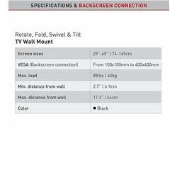 "Barkan 3400 - 4 pohybový do 400x400mm, pro TV 29""-65"" (74-165cm), do 40kg  - 4"