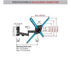 "Barkan 3420 - 4 pohybový do 400x400mm, pro TV 29""-58"" (74-147cm), do 25kg  - 4"