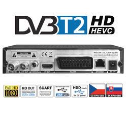 MC721T2PLUS, přijímač DVB-T2 HEVC se dvěma ovladači.  - 4