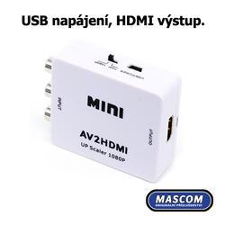 AHC 01-LT, konvertor 3AV na HDMI  - 4