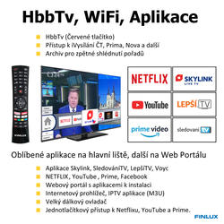 Finlux TV43FFF5660 - T2 SAT HBB TV SMART WIFI SKYLINK LIVE-  - 4