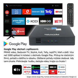 MC A101T/C,Android TV 10.0,DVB-T2, 4K HDR, Ovladač s TV Control  - 4