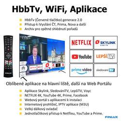 Finlux TVF65FUF9060 - QLED HDR UHD T2 SAT WIFI SKYLINK LIVE BEZRÁMOVÁ-  - 4